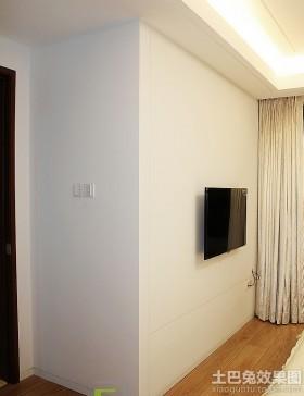 白色家居室内电视背景墙装修