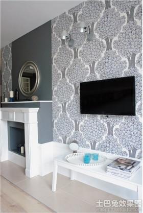 电视背景墙欧式风格电视背景墙壁画图片