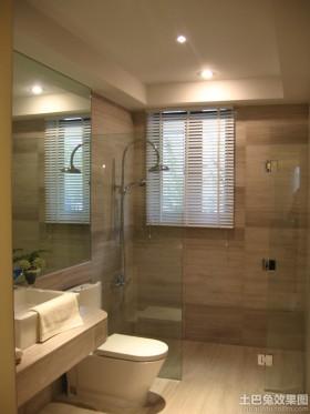 卫生间浴室玻璃门装修图片