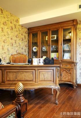 颜色书桌书房原木色家具装修图片