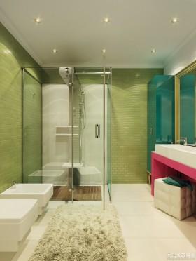 欧式风格欧式卫生间浴室玻璃门设计效果图