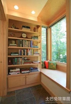 飘窗产品简约实木质飘窗装修效果图