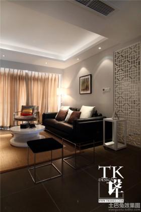 现代风格窗帘现代客厅装修设计图欣赏