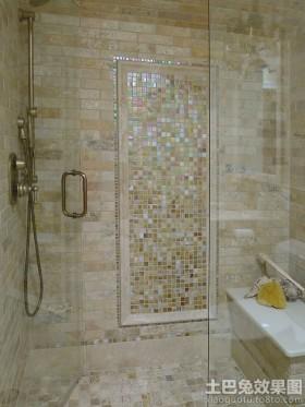 卫生间背景墙浴室玻璃马赛克图片