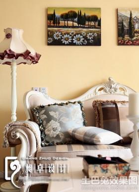 欧式风格沙发背景墙欧式客厅沙发背景墙面漆颜色效果图