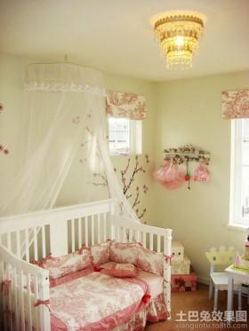 局部卧室暖色调女孩的房间设计图
