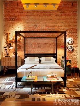 欧式风格英式乡村风格卧室装修效果图片