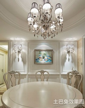 装饰画餐厅石膏线背景墙挂画装饰效果图