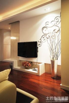 局部电视背景墙简约花雕电视背景墙装修效果图