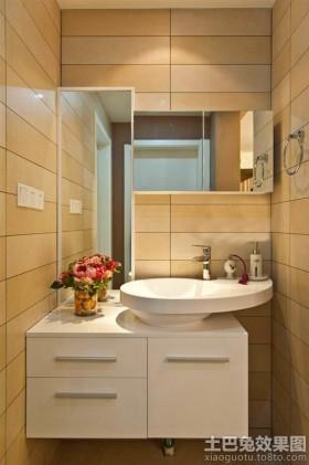 空间简约风格简约洗手间柜式洗手盆图片