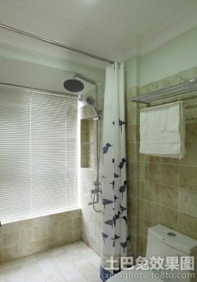 淋浴室浴帘装修效果图片