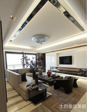 客厅吊顶现代风格客厅吊顶效果图片图片