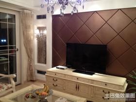 电视背景墙电视柜欧式硬包电视背景墙装修效果图大全图片
