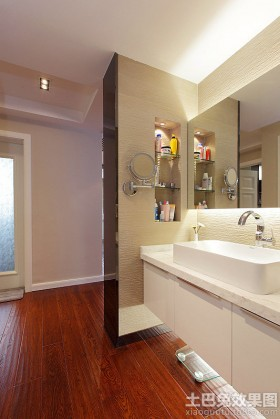 简约风格洗手台简约洗手间干区装修效果图