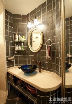 颜色卫生间家装洗手间洗手盆效果图