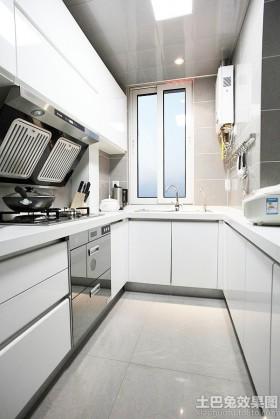 现代简约厨房u型橱柜效果图