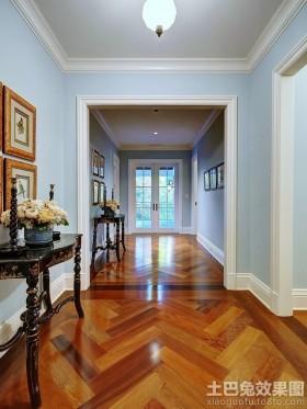 局部蓝色简欧风格家装木地板拼花贴图