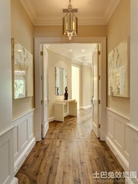 欧式风格过道欧式过道仿古木地板高清贴图
