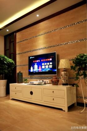 新中式电视柜背景墙装修效果图