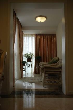 欧式风格窗帘欧式风格过道装修效果图欣赏