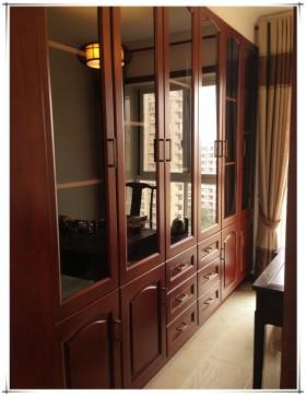 中式风格实木柜子效果图