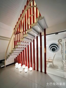 楼梯别墅楼梯隔断效果图