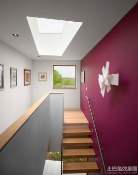 复式装饰画楼梯彩色墙面漆效果图
