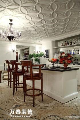 欧式风格别墅开放式厨房天花吊顶效果图