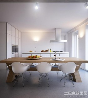 極簡主義廚房餐廳裝修效果圖欣賞