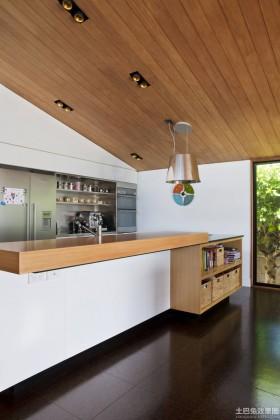 吧台地板简约风格实木吧台面装修设计