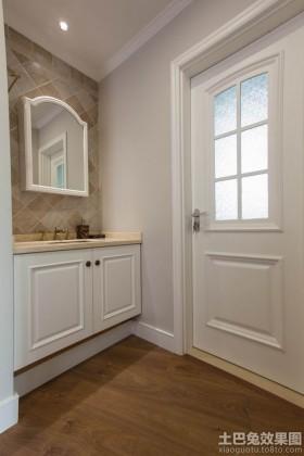 欧式风格浴室柜简欧式卫生间门装修效果图