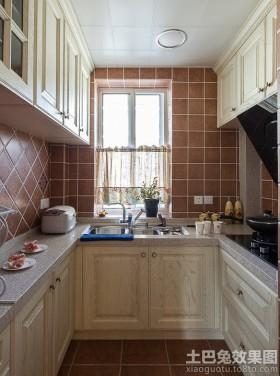u型小厨房装修效果图大全20