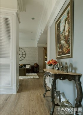 装饰画混搭欧式家庭走廊装修效果图