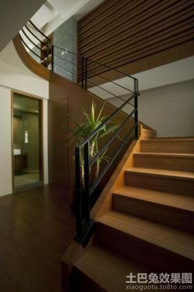 楼梯别墅室内实木楼梯图片