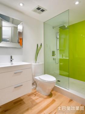 简约时尚浴室玻璃隔断装修效果图
