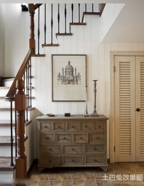 新古典风格楼梯鞋柜装修效果图大全2014图片