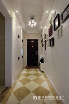 进门玄关走廊照片墙装修效果图