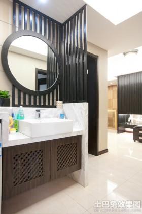 简约风格洗手台洗手间干区装修效果图