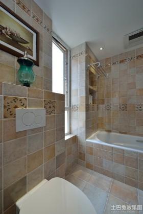 美式风格卫生间美式装修卫生间瓷砖效果图图片