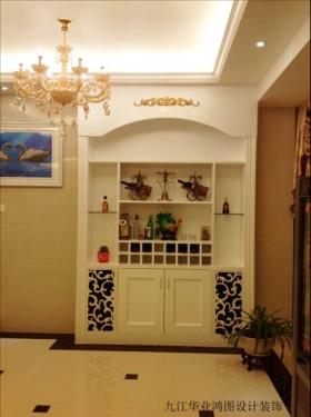 风格酒柜欧式别墅室内过道酒柜装修效果图