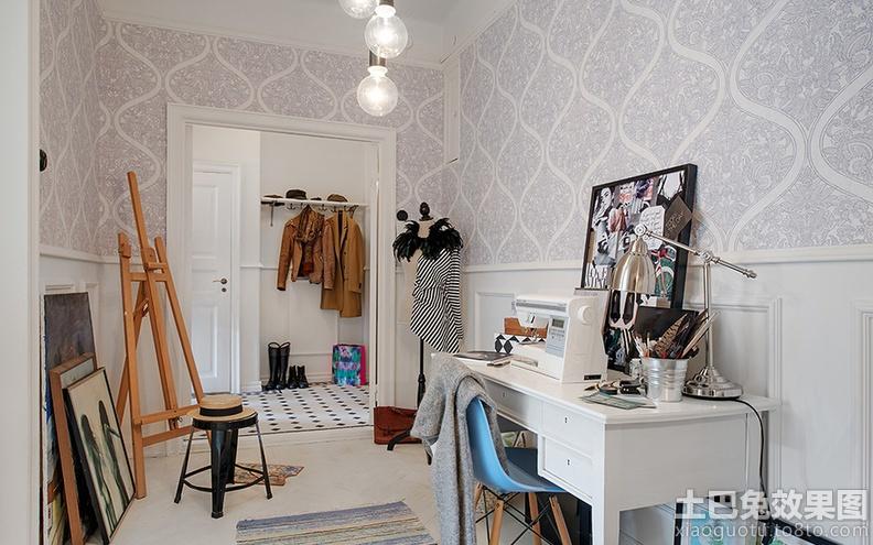 北欧风格家庭书房布置图片