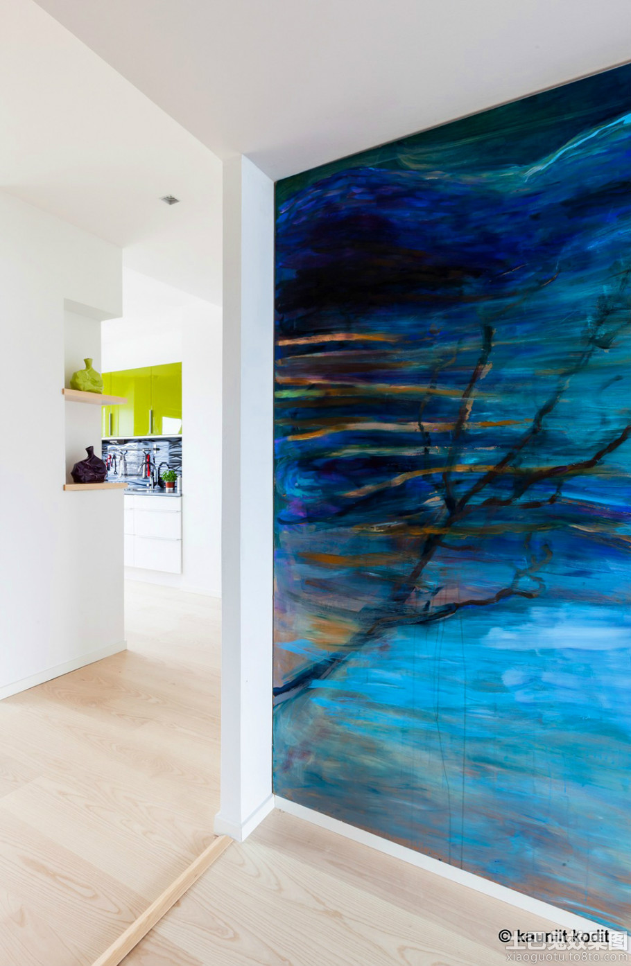 家庭过道室内墙面彩绘效果图
