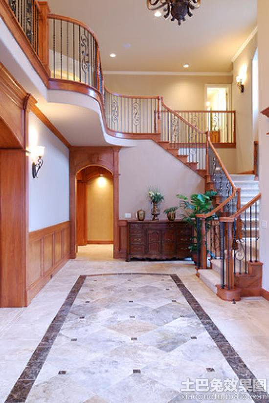 别墅大厅地板砖效果图别墅地板砖效果图大全图片14