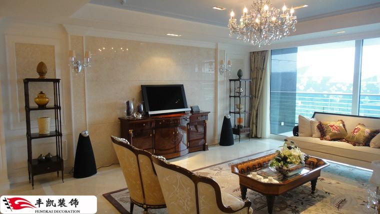 欧式客厅瓷砖电视背景墙 - 装修效果图 - 九正家居网