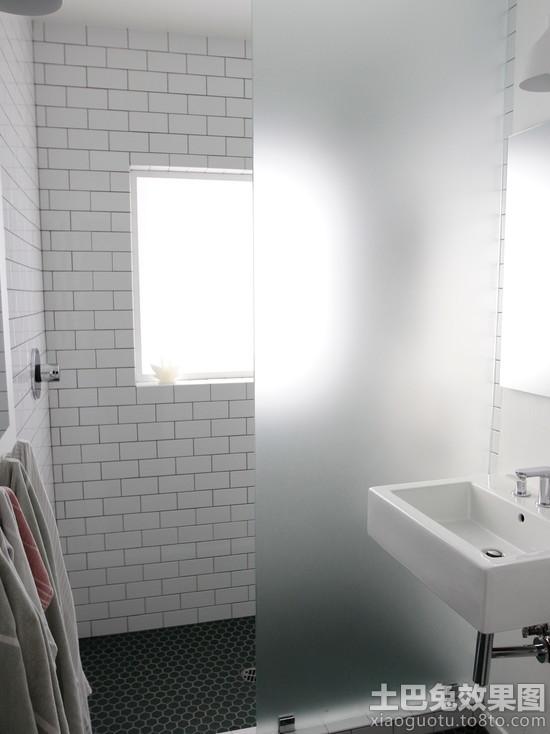 卫生间磨砂玻璃隔断效果图