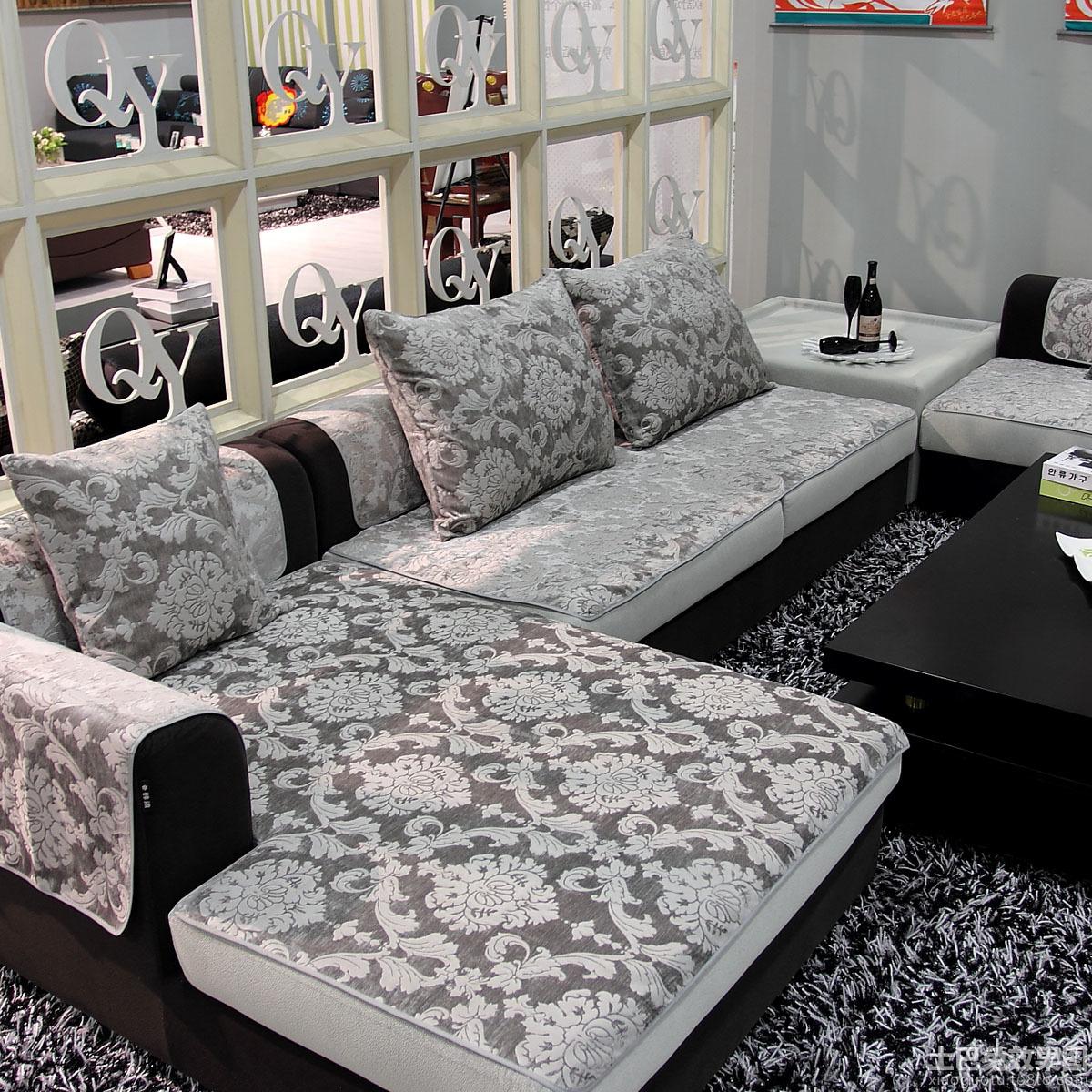 简约布艺沙发坐垫效果图