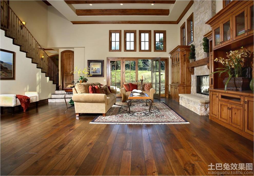 客厅实木装修效果图