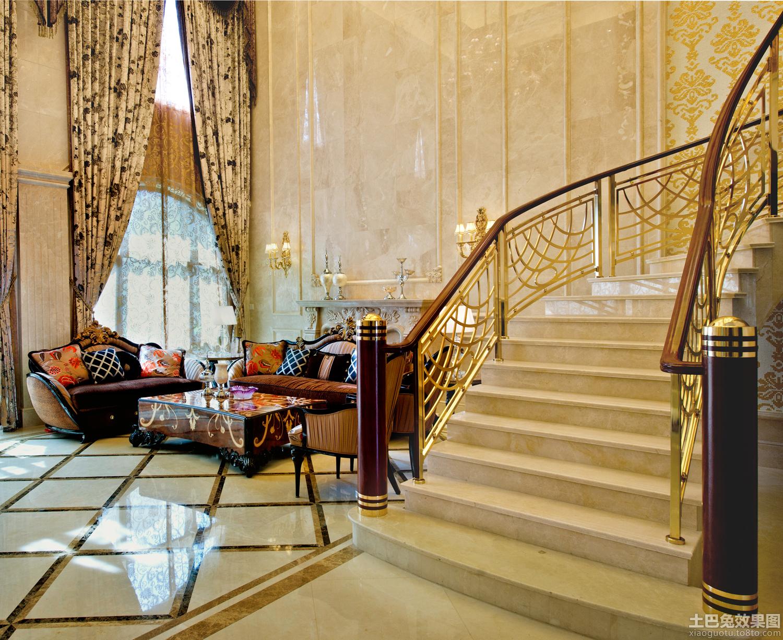 欧式别墅楼梯装修效果图片