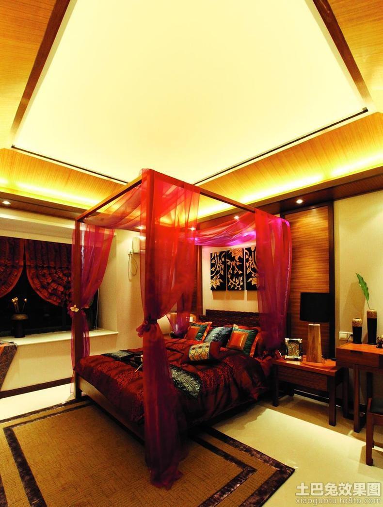 20平米东南亚风格卧室装修效果图