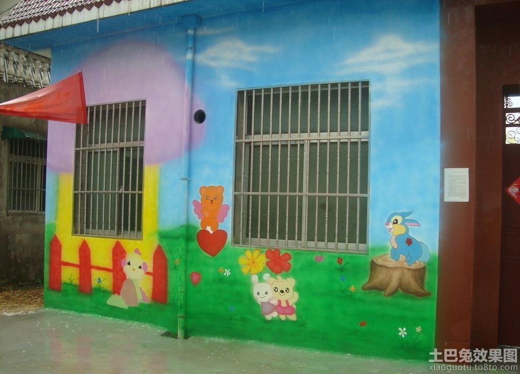 幼儿园外墙墙体彩绘图片大全